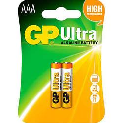 Батарейка GP Ultra LR-03 AAА по 2шт на блистере