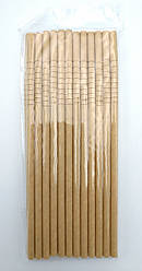 Трубочки бумажные крафт гофра 25 шт