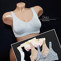 Спортивний топ OUNO 6041-2 для дівчаток-підлітків. Розмір 8-10, колір СІРИЙ