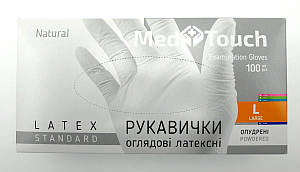 Перчатки MedTouch латексные 100шт L