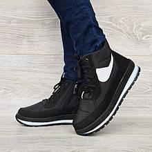 Женские зимние ботинки на молнию + шнуровку (БТ-12ч)