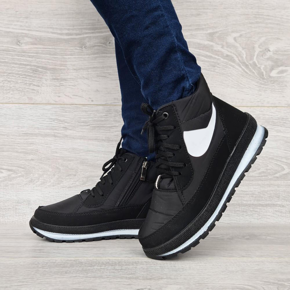 Жіночі зимові черевики на блискавку + шнурівку (БТ-12ч)