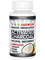 Кокосовый активированный уголь в капсулах № 90, детоксикация организма, очищение, для иммунитета