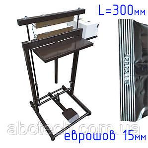 Ножний зварювач єврошов 300 мм з датером 300 Вт Підлоговий зварювач постійного нагрівання Зварювач пакетів датер