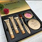 ОПТ Косметичний набір Dermacol Make-up 6 в 1 (тональний крем, пудра, рум'яна) зі щіточкою подарунковий нвбор, фото 5