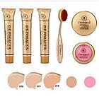 ОПТ Косметичний набір Dermacol Make-up 6 в 1 (тональний крем, пудра, рум'яна) зі щіточкою подарунковий нвбор, фото 8
