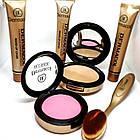 ОПТ Косметичний набір Dermacol Make-up 6 в 1 (тональний крем, пудра, рум'яна) зі щіточкою подарунковий нвбор, фото 9