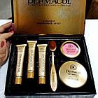 ОПТ Косметичний набір Dermacol Make-up 6 в 1 (тональний крем, пудра, рум'яна) зі щіточкою подарунковий нвбор, фото 10
