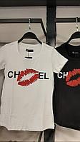 Женская турецкая белая футболка Chanel