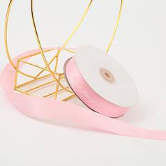 Стрічка декоративна Lesko Just For You Light Pink 2.5 см (45 м) подарункова