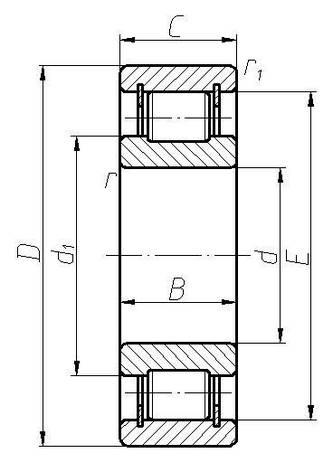 Подшипник 102316 (NCL316V)  ГПЗ-34 *, размеры:**, фото 2