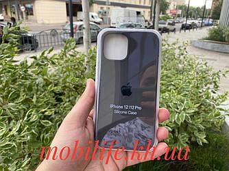Чохол Silicon Case iPhone 12,12 Pro/Колір Графіт (кава)/Висока Якість/