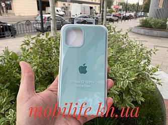 Чохол Silicon Case iPhone 12,12 Pro/Колір Бірюзовий/Висока Якість/Закритий Низ/