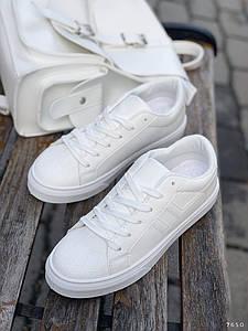 Білі кросівки жіночі на платформі 11622 (ЯМ)