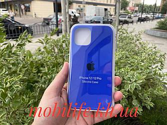 Чохол Silicon Case iPhone 12,12 Pro/Колір Електрик/Висока Якість/Закритий Низ/