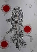 Картина рыба в японском стиле