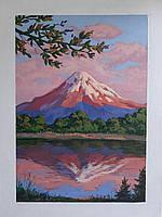 Картина Гора Фудзияма Япония японский пейзаж