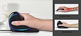 Провідна вертикальна миша з підсвічуванням Delux M618 Plus Blue, фото 9