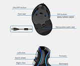 Провідна вертикальна миша з підсвічуванням Delux M618 Plus Blue, фото 4