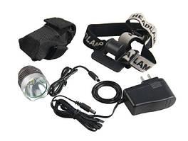 Налобный Zoom фонарь + велофара на руль.
