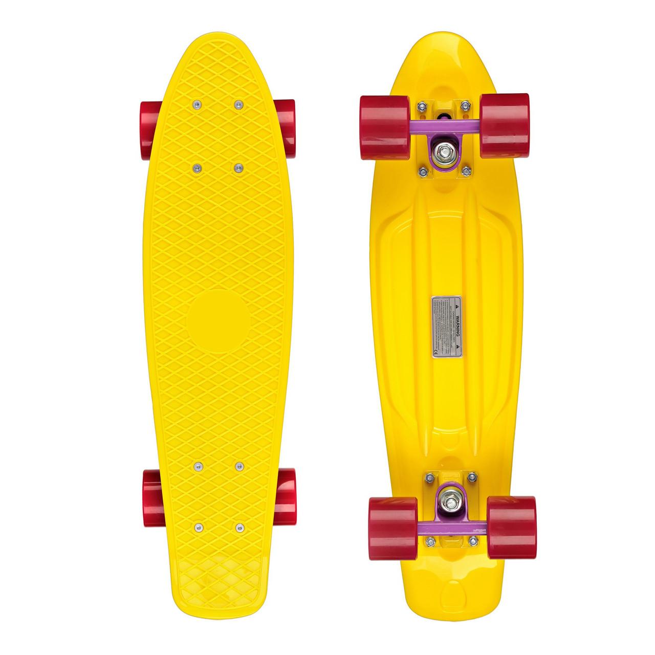 """Крузер / пенниборд Candy 22 """" Yellow/Purple/Red"""