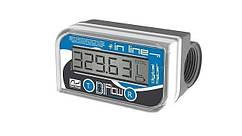 Електронний лічильник IN-LINE для дизельного палива, масла, 10-150 л