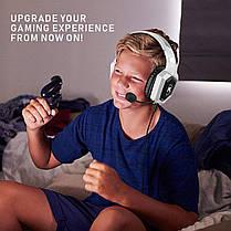 Игровые наушники с микрофоном и LED подсветкой RUN MUS Gaming K8 white геймерские, фото 3