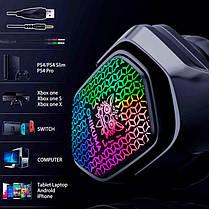 Наушники игровые с микрофоном и LED RGB подсветкой ONIKUMA Gaming with RGB LED X3 Black геймерские, фото 3