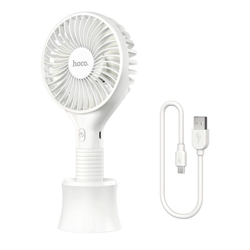 Ручний міні портативний вентилятор настільний акумуляторний HOCO Mickey hand fan F13  5H, Ultra-Quiet 