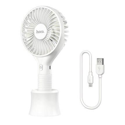 Ручний міні портативний вентилятор настільний акумуляторний HOCO Mickey hand fan F13  5H, Ultra-Quiet , фото 2