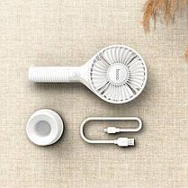 Ручний міні портативний вентилятор настільний акумуляторний HOCO Mickey hand fan F13  5H, Ultra-Quiet , фото 3
