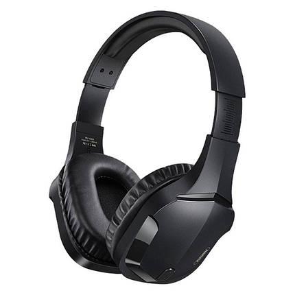 Бездротові ігрові навушники Bluetooth гарнітура REMAX RB-750HB Black, фото 2