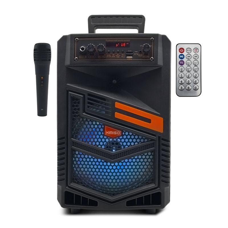Портативна бездротова Bluetooth колонка з мікрофоном KIMISO QS-7803 радіо бумбокс USB Speaker 1800mA
