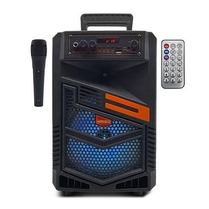 Портативна бездротова Bluetooth колонка з мікрофоном KIMISO QS-7803 радіо бумбокс USB Speaker 1800mA, фото 2