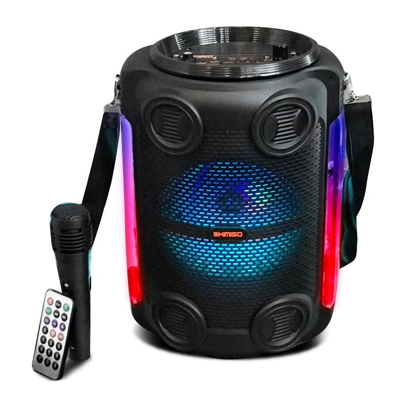 Беспроводная портативная Bluetooth колонка с микрофоном KIMISO QS-4606 радио бумбокс Speaker USB 1800mA