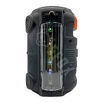 Портативна бездротова Bluetooth колонка з мікрофоном KIMISO QS-4606 радіо бумбокс USB Speaker 1800mA, фото 2