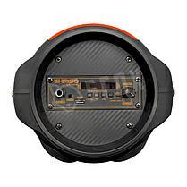 Беспроводная портативная Bluetooth колонка с микрофоном KIMISO QS-4606 радио бумбокс Speaker USB 1800mA, фото 2