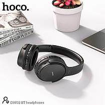 Бездротові навушники Bluetooth гарнітура HOCO Foldable headphones DW02 BT5.0, TF, AUX, 4Hours накладні, фото 2