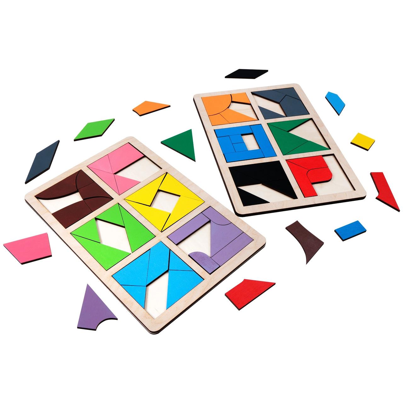 Квадраты Никитина Сложи квадрат уровень 3. 12 квадратов Komarovtoys (А392)