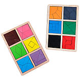 Квадраты Никитина Сложи квадрат уровень 3. 12 квадратов Komarovtoys (А392), фото 4