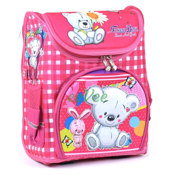 Шкільний рюкзак для дівчинки ортопедичний каркасний ранець 1 2 3 клас Рожевий (77100)