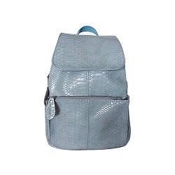 Рюкзак жіночий шкіряний Betty Pretty Блакитна рептилія