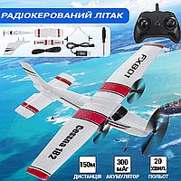 Детский самолет на радиоуправлении FX801-182N с тремя пропеллерами Радиоуправляемый самолет до 150м, фото 1