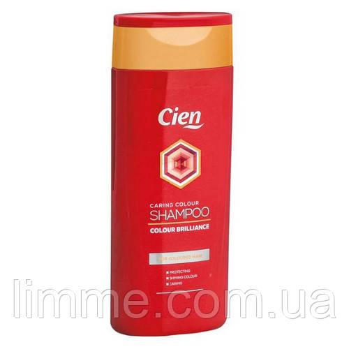 Шампунь для збереження кольору фарбованого волосся Cien Colour Brilliance 300 мл.