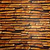 Набір 3D-панелей 10 шт. Коричневий бамбук декор під дерево для стін самоклеючі 3d панелі дошки 700x700x5 мм