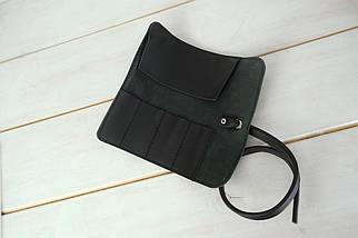 """Кожаный пенал """"Скрутка на 4 кармана"""" Кожа Grand, цвет Черный, фото 3"""