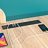 Блок  розеток врезной   3 розетки 2 USB кнопкой вкл/выкл черный