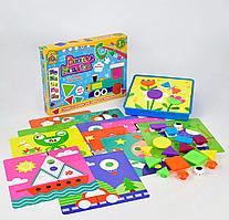 """Мозайка 7305 """"Весела Мозаїка"""" 22 разноцветных элемента, 12 платформ с рисунками, """"FUN GAME"""""""