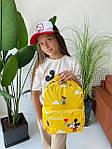Дитячий рюкзак, поліестер (жовтий), фото 3