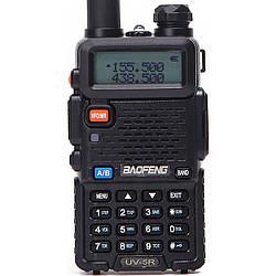 Рация Baofeng UV-5R Black + Гарнитура Baofeng c кнопкой РТТ ES, КОД: 1310536